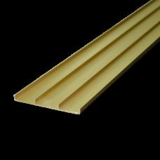 Профиль текст. 93 мм золото матовое