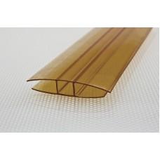 Профиль Н-образн.,соединит. для 8 мм дл.6м коричневый