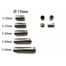 Держатель дистанционный 10*50мм (никель)