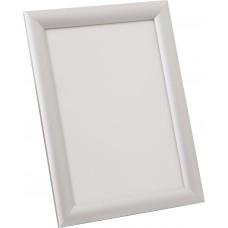 Стойка информ. 1,4 м  рамка Клик 45°  А4  (серый металлик RAL-9006)