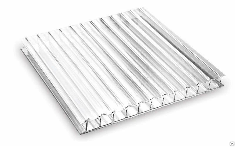 Сотовый поликарбонат 4 мм 12000х2100 мм Rational (0.47 кг/м2) (00 прозрачный, 1 UV)
