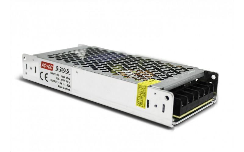 Блок питания LIGHT LED S-200-5 (IP 20) Slim
