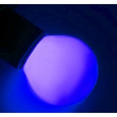 LED G45 220V-240V лампа-шарик с цоколем Е27, 45 мм (5 диодов), матовые, синий