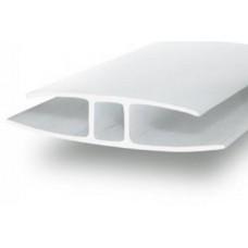 Профиль Н-образн.,соединит. для 4-6мм дл.6м молочный