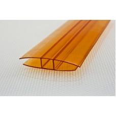 Профиль Н-образн.,соединит. для 4-6мм дл.6м оранжевый
