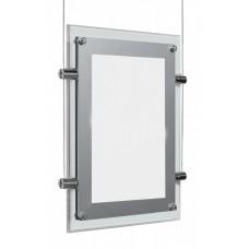 Световая панель Кристалл двуст. подвесная А3 (серый матовый, токопровод. трос)