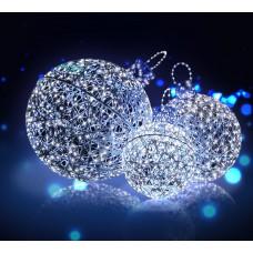Шар IBL BALL 60, диаметр 60 см, 152 синих диода, синяя мишура