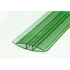 Профиль Н-образн.,соединит. для 4-6мм дл.6м зелёный