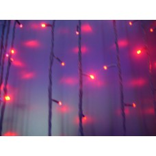 Дождь светодиодный LED-PRL-74x24-230V 2х7м красный