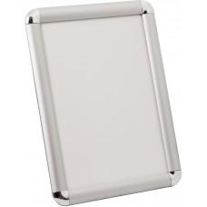 Рамка Клик ПК-25 дек. угол.  А2, (серебро матовое анодир., антиблик, ПВХ)
